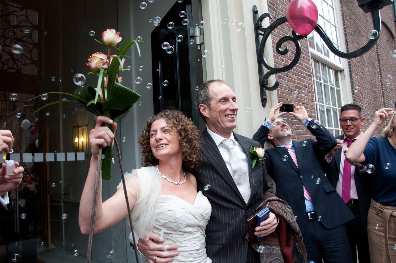 Eindelijk op het bordes, getrouwd en wel