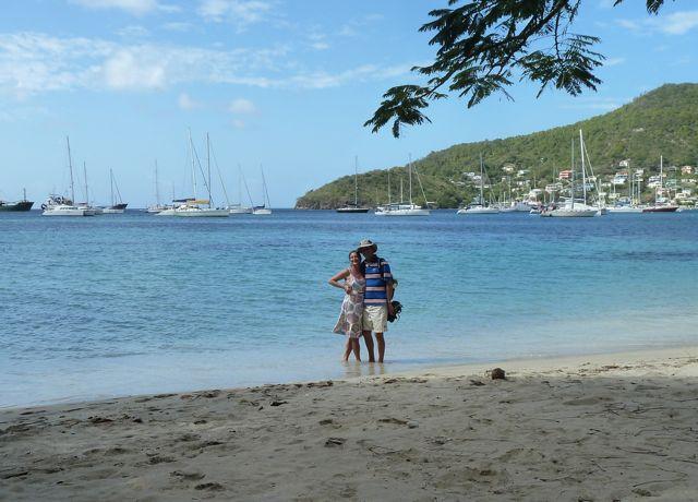 ja ja, tis echt, witte stranden en palmen, blauw water, heerlijk!