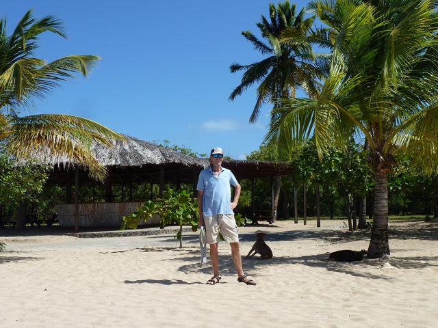 met aangrenzende palmbomen, we zijn nu echt in de Carieb!