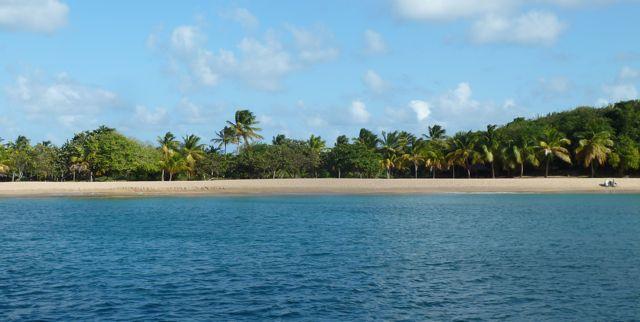 Dag prachtig strand waar we vijf dagen van hebben genoten! Op naar the Tobago Cays.