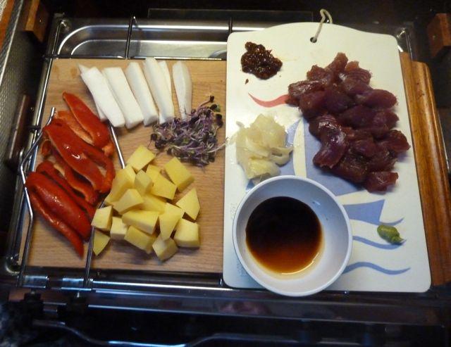 Prachtig donkerrood vlees, ideaal voor sashimi