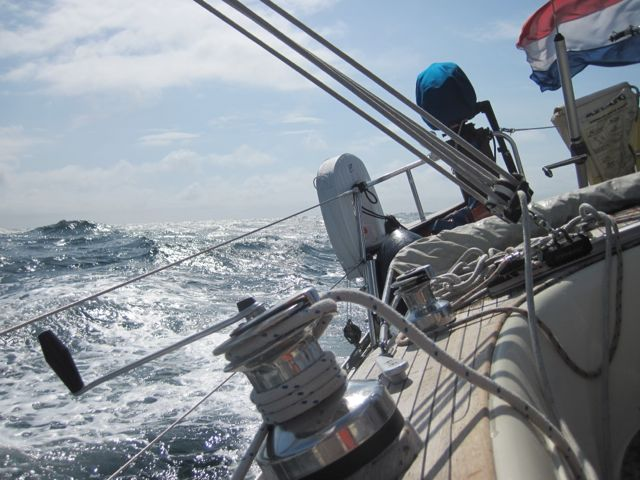 heftige zee op het kattegat