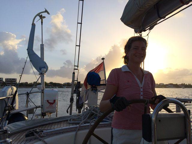 Vroeg uit de veren om bij het eerste daglicht naar Curacao te vertrekken