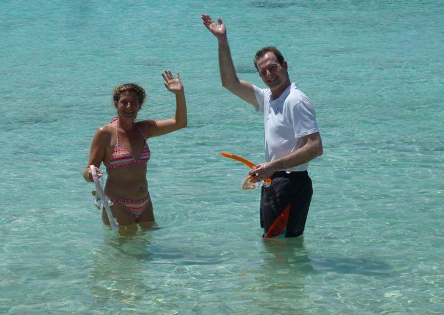 en dan heerlijk snorkelen op playa porto Marie.
