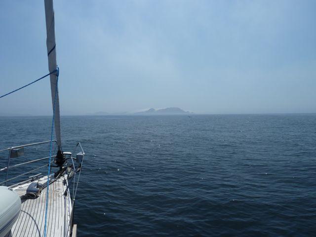 Isla Cies verschijnt uit de mist