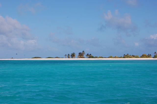 Uitzicht op het prachtige strand van Aves Sotavento