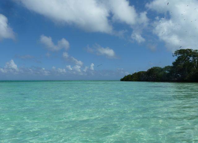 Wat een kleur heeft het water hier, en het zwemt fantastisch als je de bodem zo goed kan zien.