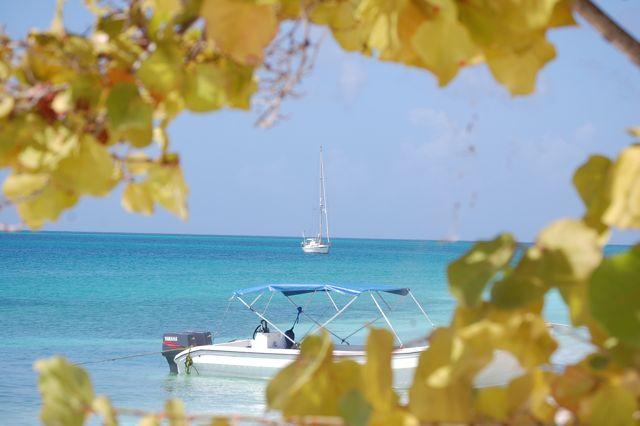 met uitzicht op ons bootje
