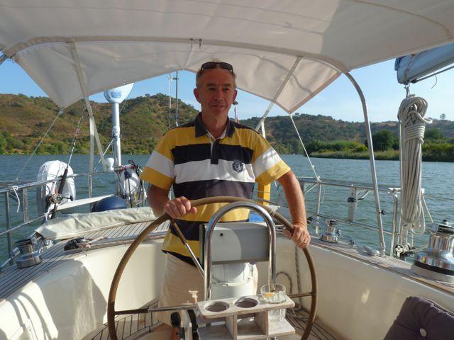 En dan breekt de dag aan dat we gasten krijgen, wat leuk, Lucien en Els zijn de hele dag bij ons aan boord