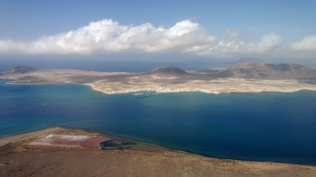 Prachtig uitzicht over isla Graciosa