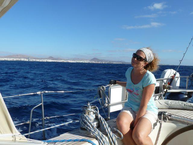 Dan varen we verder naar Marina Rubicon in het zuiden, waar Mariette en Brigitte aan zullen komen.