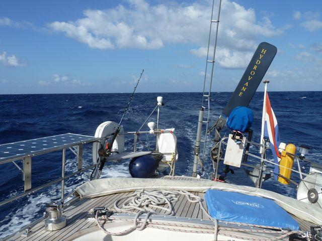 Midden op de Atlantische oceaan