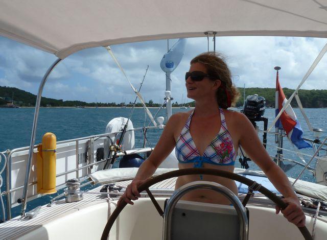 Op weg naar the Tobago Cays, we zijn benieuwd, het schijnt er prachtig te zijn
