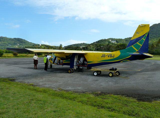 We spotten een airplane bij het vliegveld