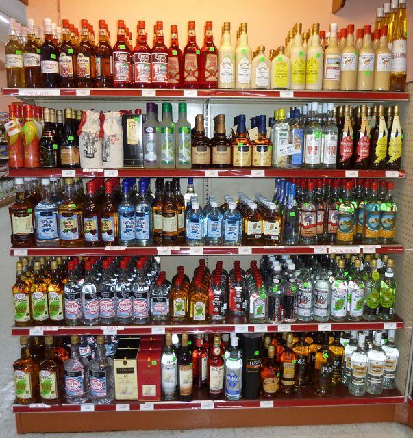 De keuze aan soorten rum is enorm in de supermarkt!!