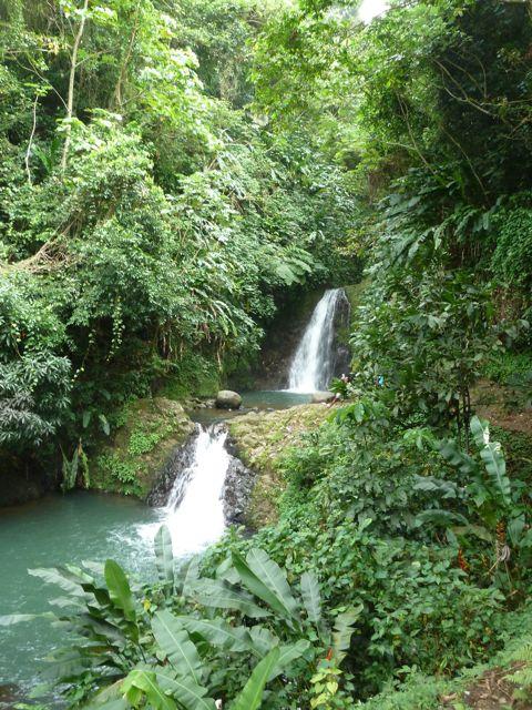 Een van de andere watervallen in de buurt.