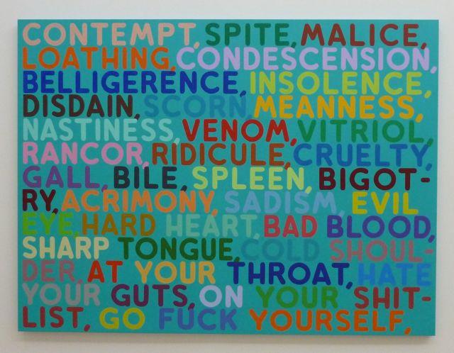 We genieten enorm van het werk van woord- en kleur kunstenaar Mel Bochner