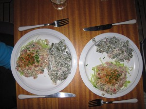 Krab cocktail als salade deze avond