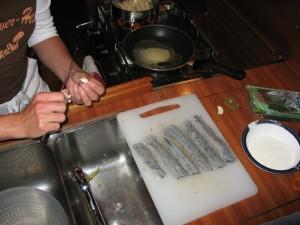gebakken geepfilets